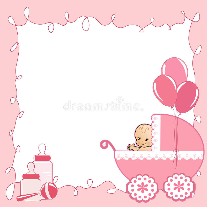 download baby shower card stock vector illustration of announcement 25306946