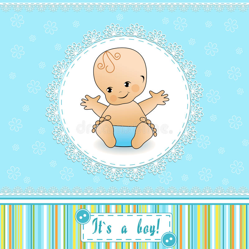 Download Baby Shower Card. Stock Photo - Image: 25306980