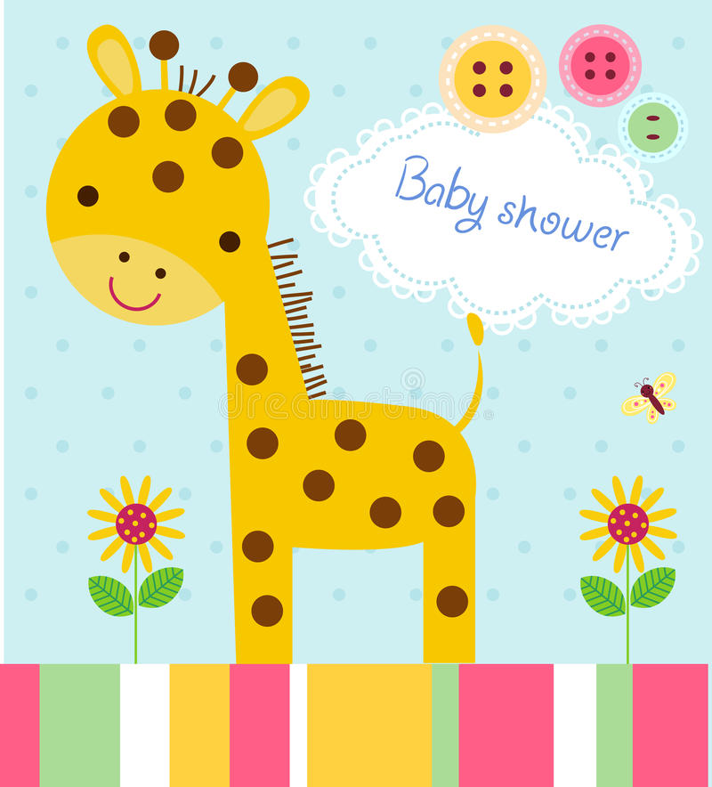 Download Baby Shower Card Stock Vector. Illustration Of Greeting   34899332