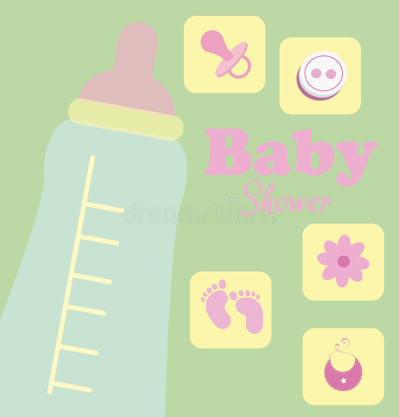Download Baby shower stock vector. Image of congratulate, born - 38545029
