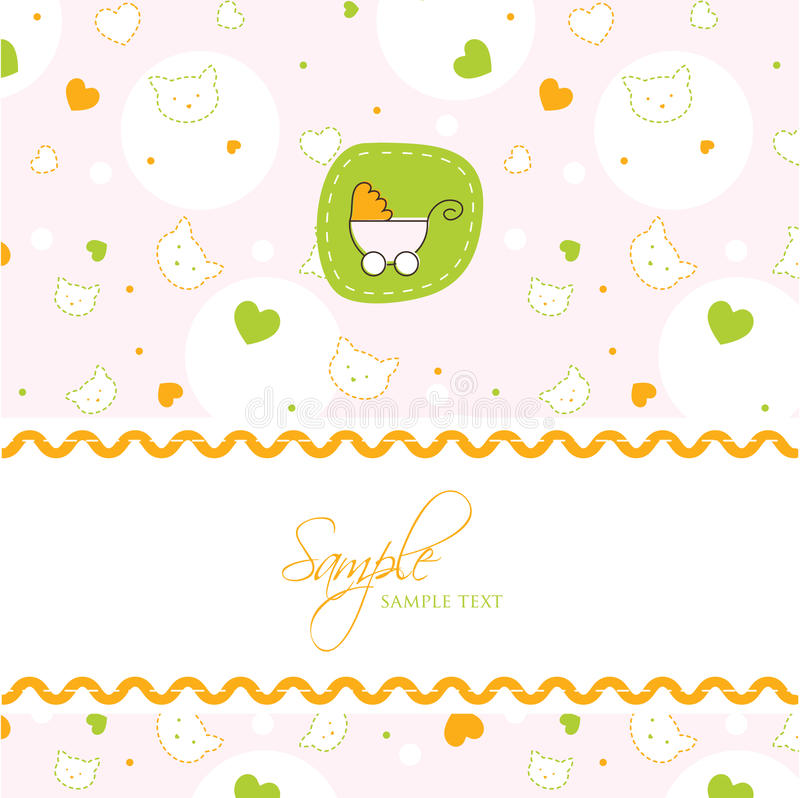 Baby Shower Card Template Stock Vector Illustration Of Happiness