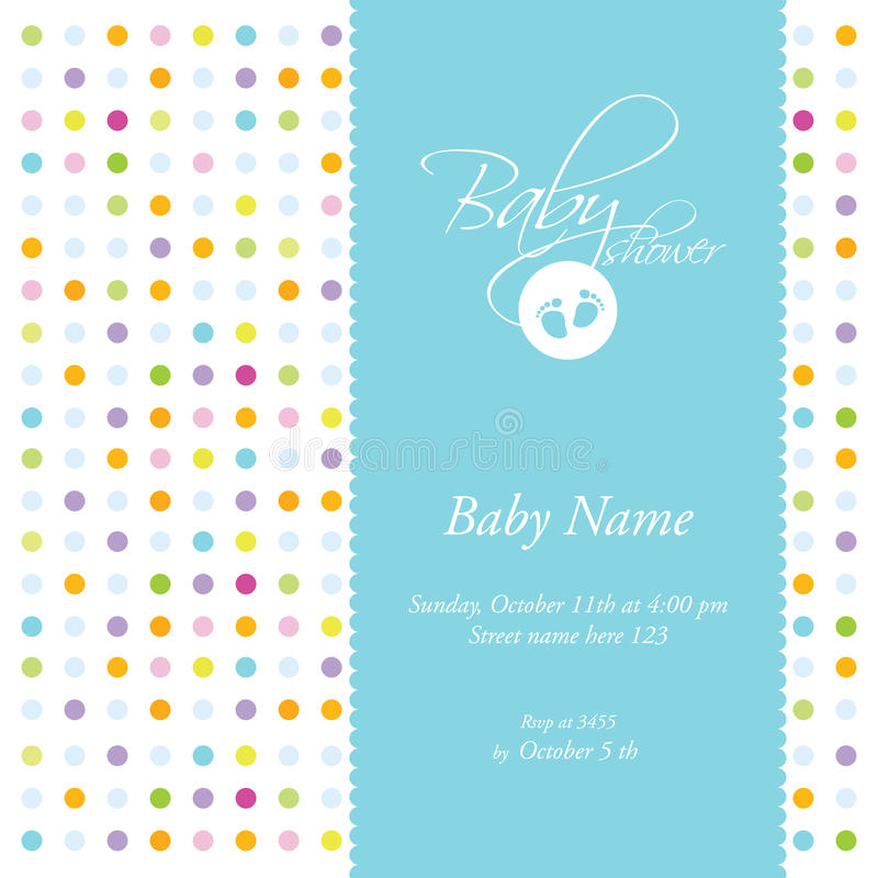 Baby Shower Card Template Royalty Free Stock Image - Image: 17825136