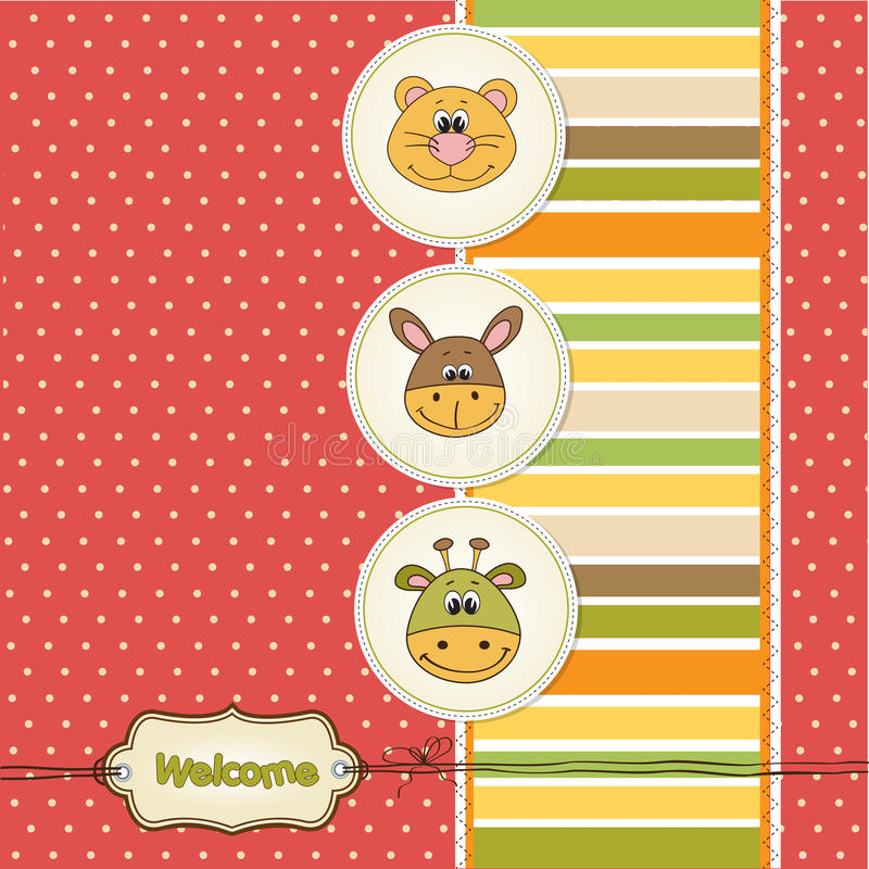 Baby shower card with toys vector illustration