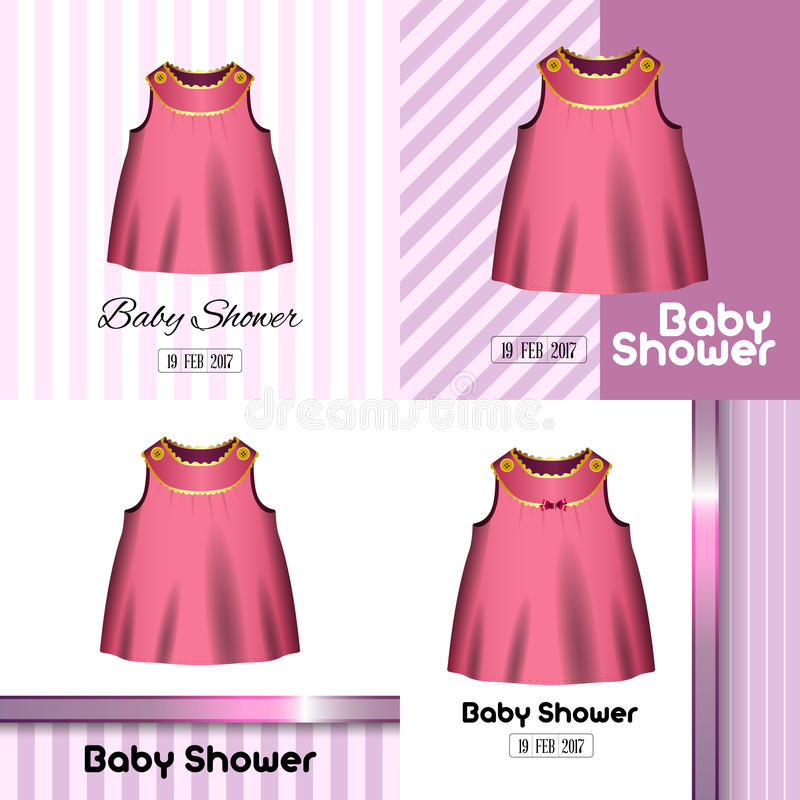 Baby shower cards royalty free illustration