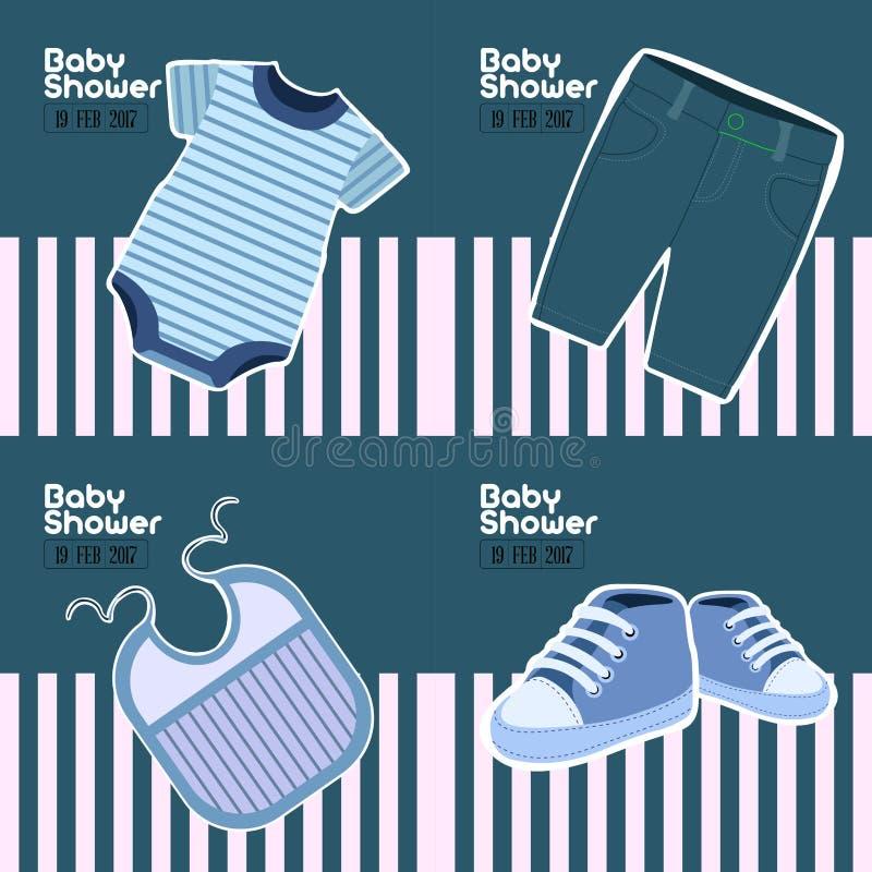 Baby shower cards stock illustration