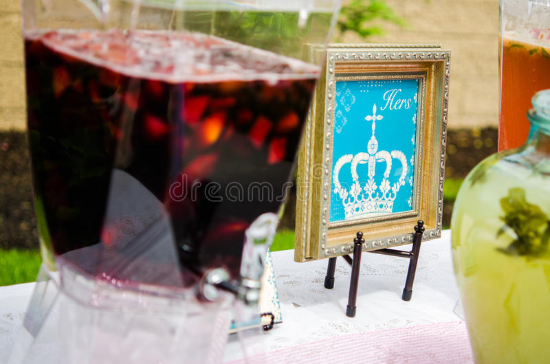 Download Baby Shower Cocktails Stock Photo. Image Of Chalk, Balloons    40355740