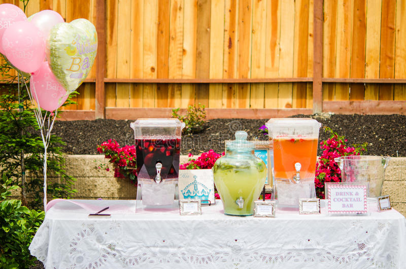Download Baby Shower Cocktails Stock Photo   Image: 40355748