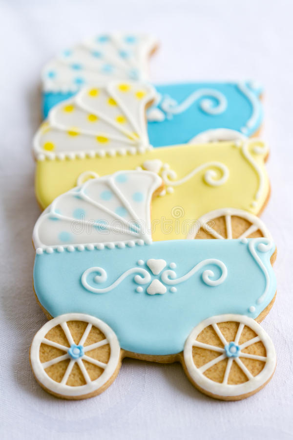 Baby shower cookies stock images