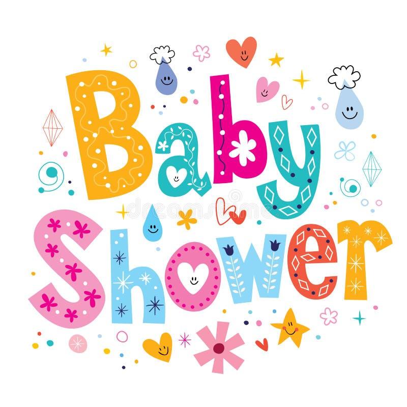Download Baby Shower Stock Vector. Illustration Of Card, Font   53481983