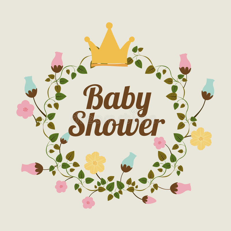 Baby shower design royalty free illustration