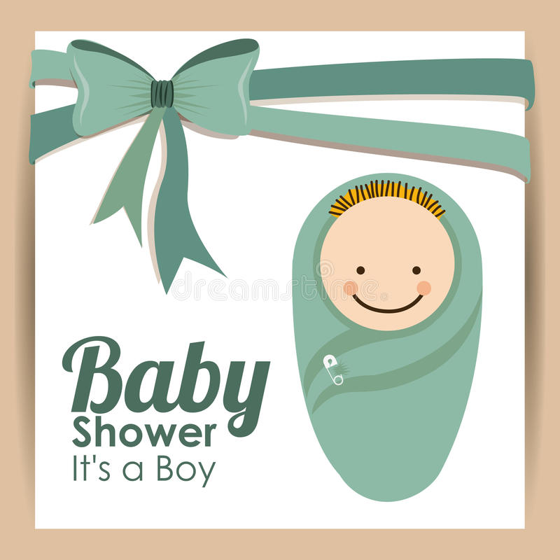 Baby shower design. Over pink background vector illustration stock illustration