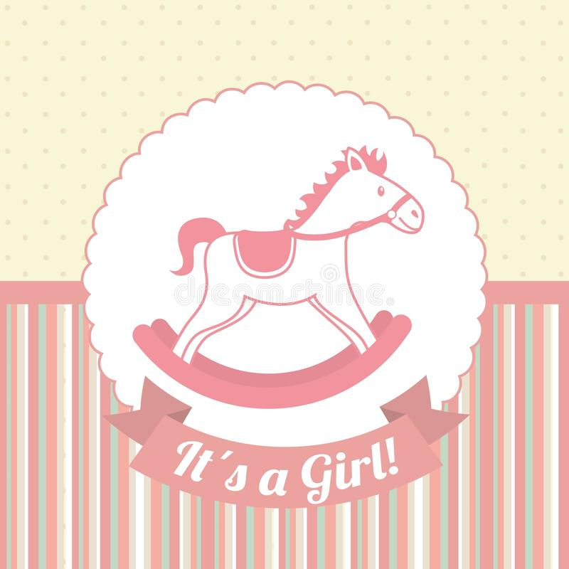 Baby shower royalty free illustration