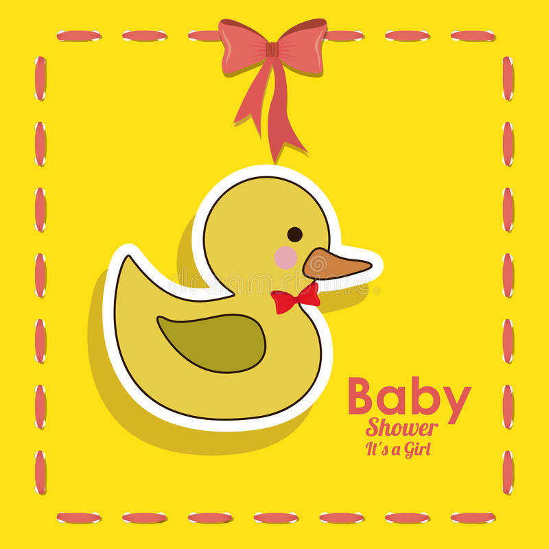 Baby shower design. Over yellow background vector illustration vector illustration