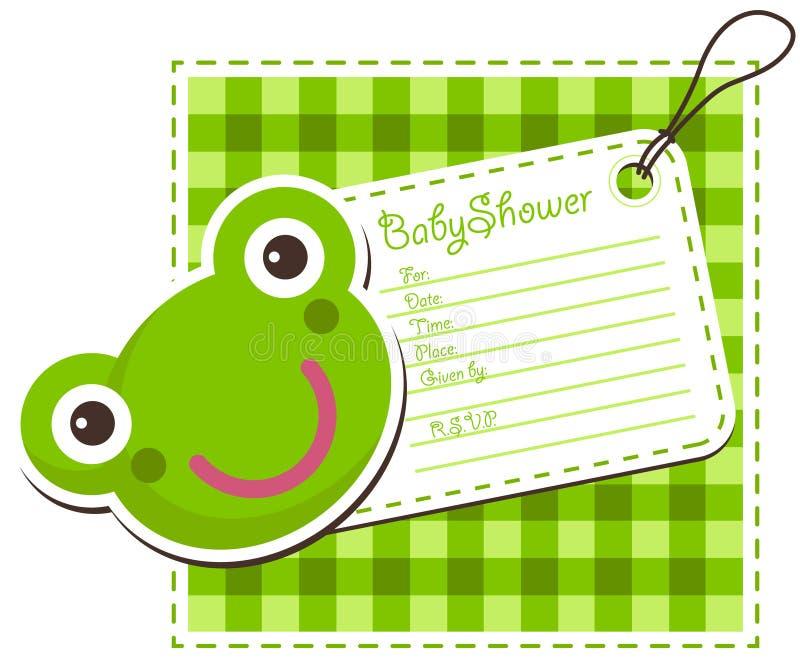 Baby Shower Frog Invitation Card Stock Vector - Illustration of ...