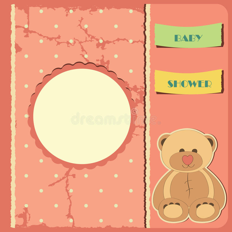 Download Baby shower for girl stock vector. Image of pink, cute - 24470221