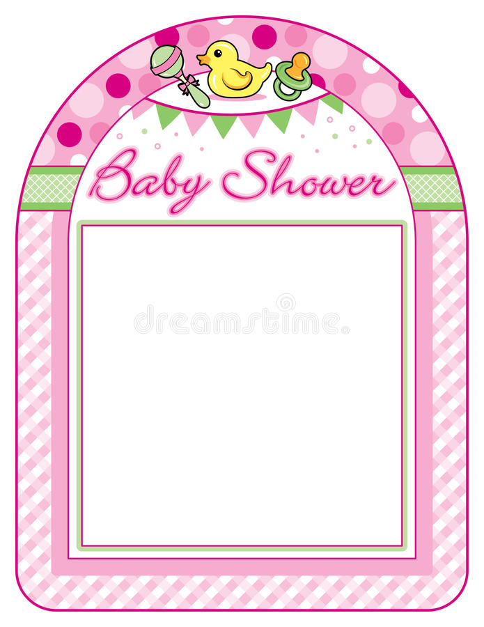 Download Baby Shower Girl Frame Print Sheet Stock Vector   Illustration Of  Vector, Pacifier: