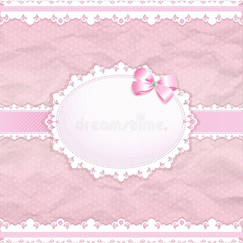 Baby shower for girl stock illustration