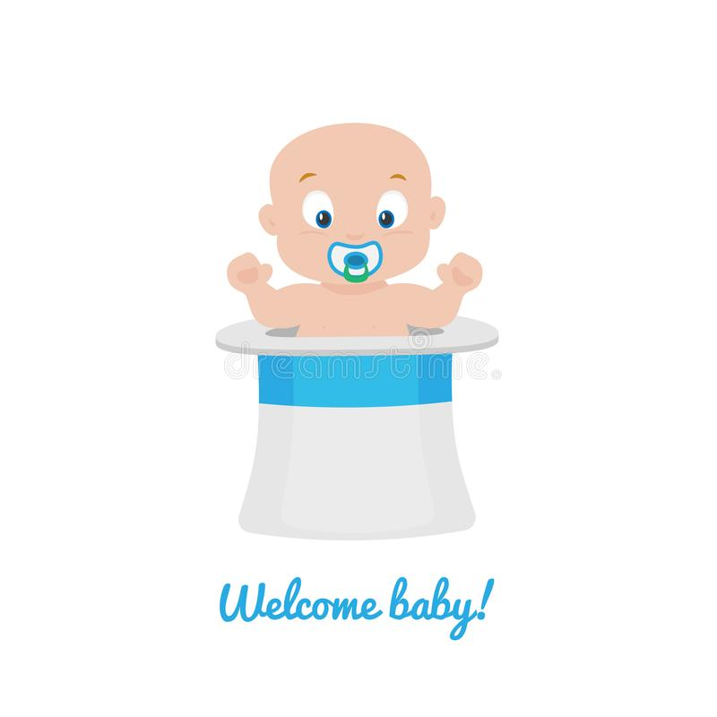 Welcome baby greeting card vector stock vector illustration of download welcome baby greeting card vector stock vector illustration of reveal isolated 113781840 m4hsunfo