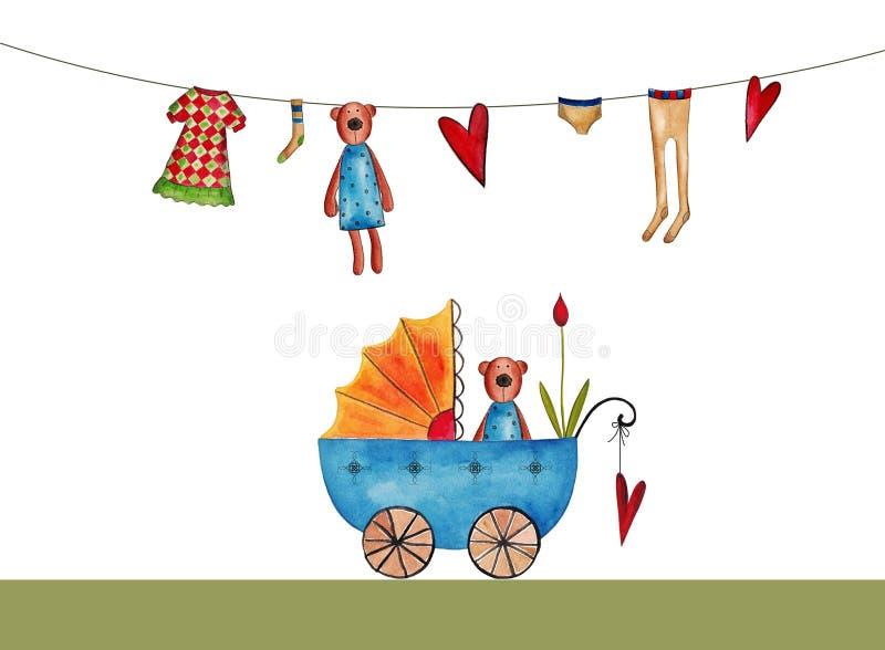 Download Baby shower invitation stock illustration. Image of artistic - 27825290
