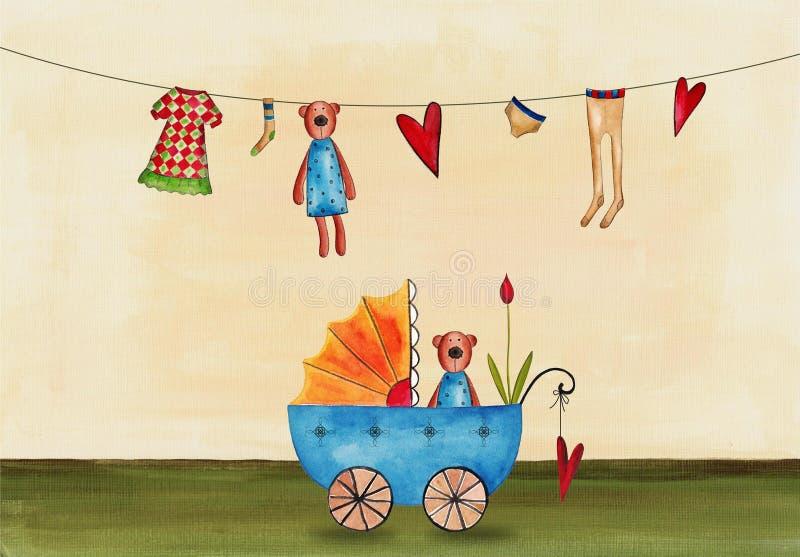 Download Baby shower invitation stock illustration. Image of design - 27825293