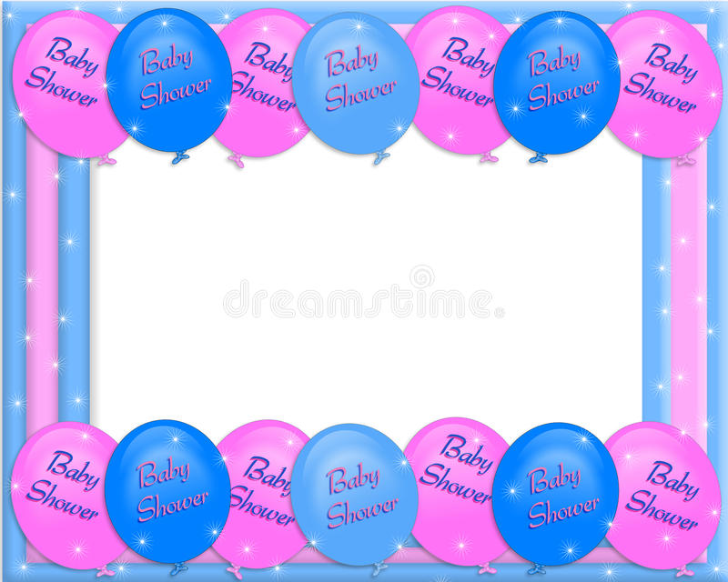 Download Baby Shower Invitation Border Stock Illustration   Illustration Of  Colors, Party: 13914039