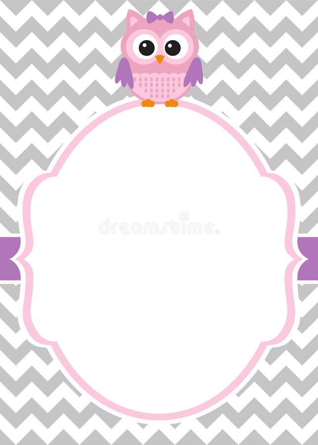 Baby shower invitation card vector illustration