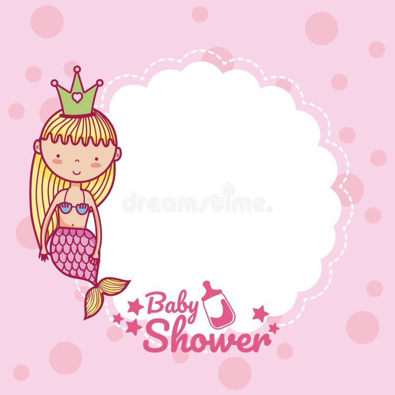 Baby shower invitation card stock illustration