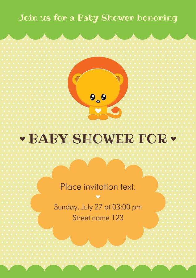 Baby Shower Invitation Card Stock Vector - Illustration of baby ...