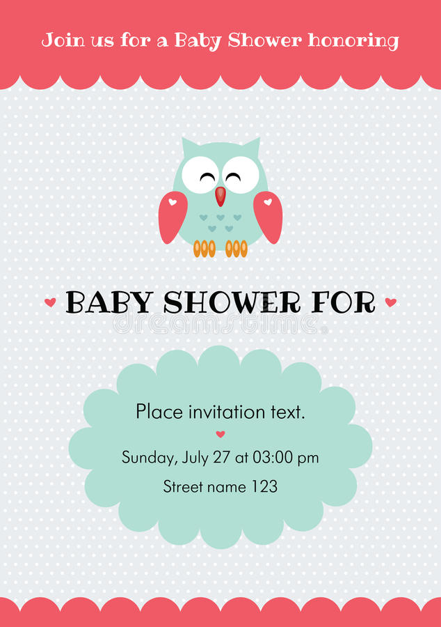 Baby shower invitation card vector illustration