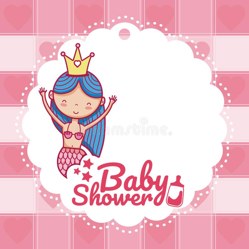 Baby shower invitation card royalty free illustration