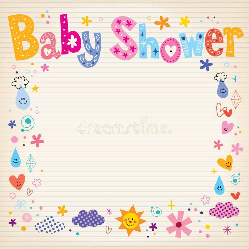 Baby Shower Invitation Card Stock Vector - Illustration of diamond ...