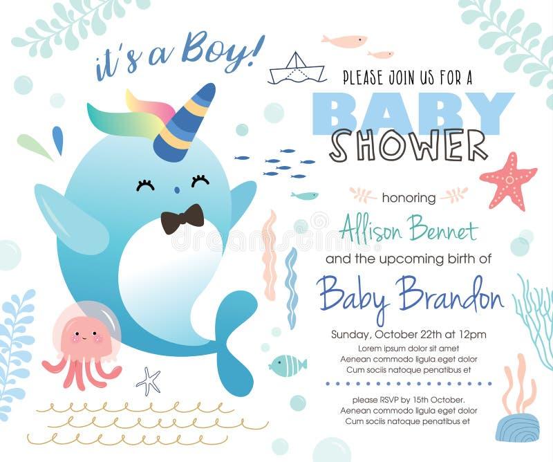 Baby Shower Invitation Card Stock Vector - Illustration of friends ...