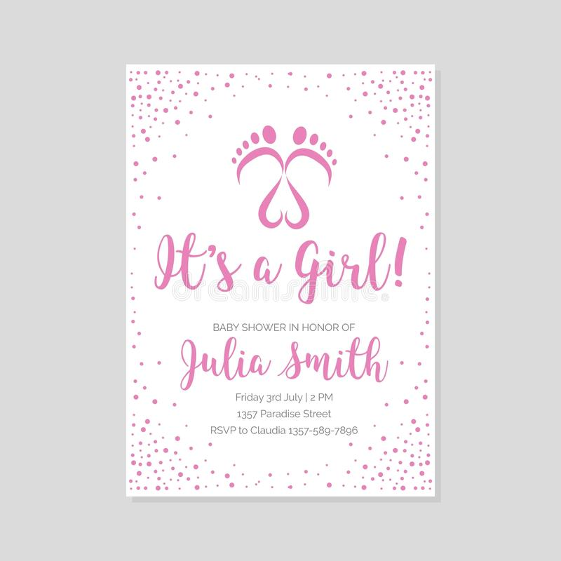 Baby shower invitation card stock illustration