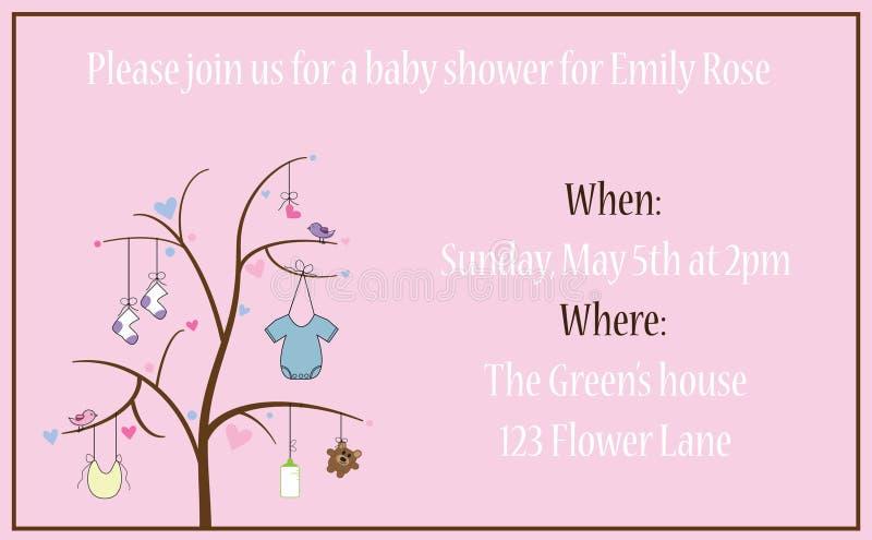 Baby Shower Invitation royalty free illustration