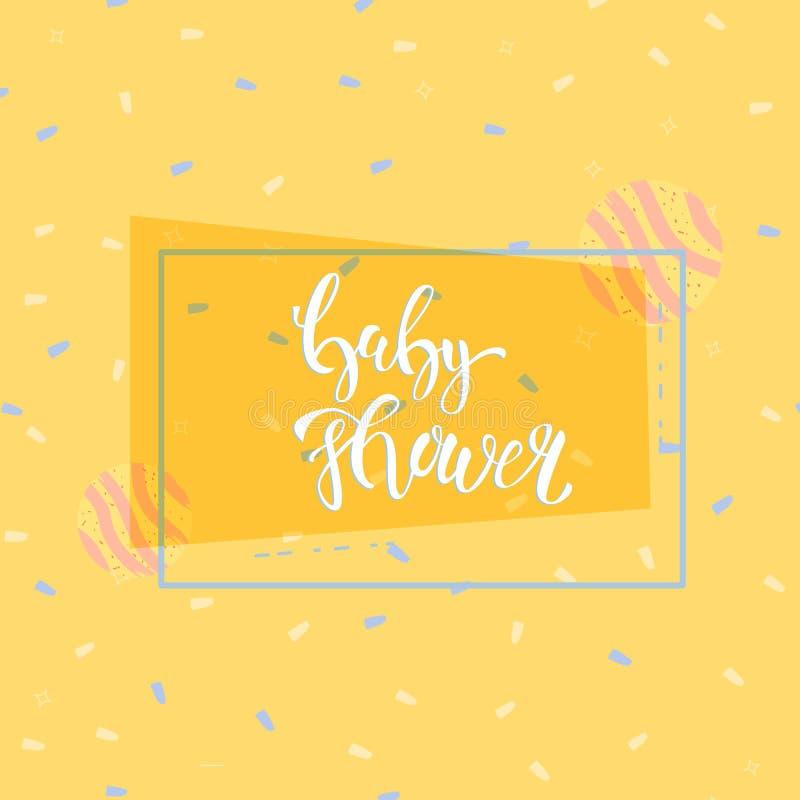 Baby Shower invitation template. Vector illustration. royalty free illustration