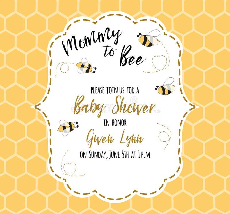 Baby shower invitation template with text mommy to bee honey cute download baby shower invitation template with text mommy to bee honey cute card design filmwisefo