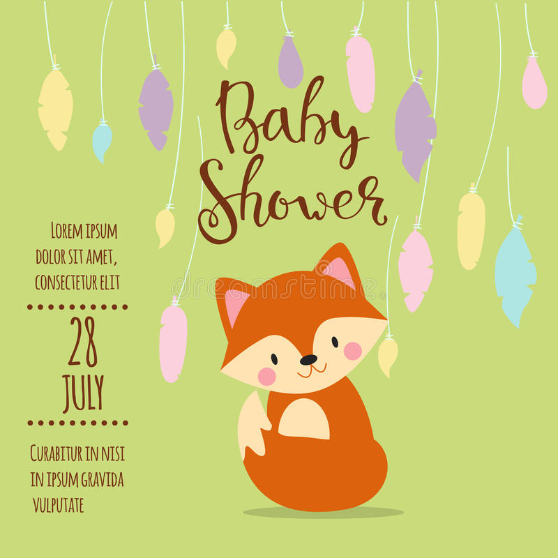 Baby shower invitation vector card stock vector illustration of download baby shower invitation vector card stock vector illustration of arrival flower stopboris Choice Image