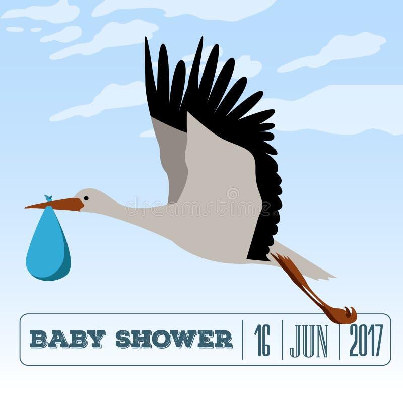 Baby shower invitational card stock illustration