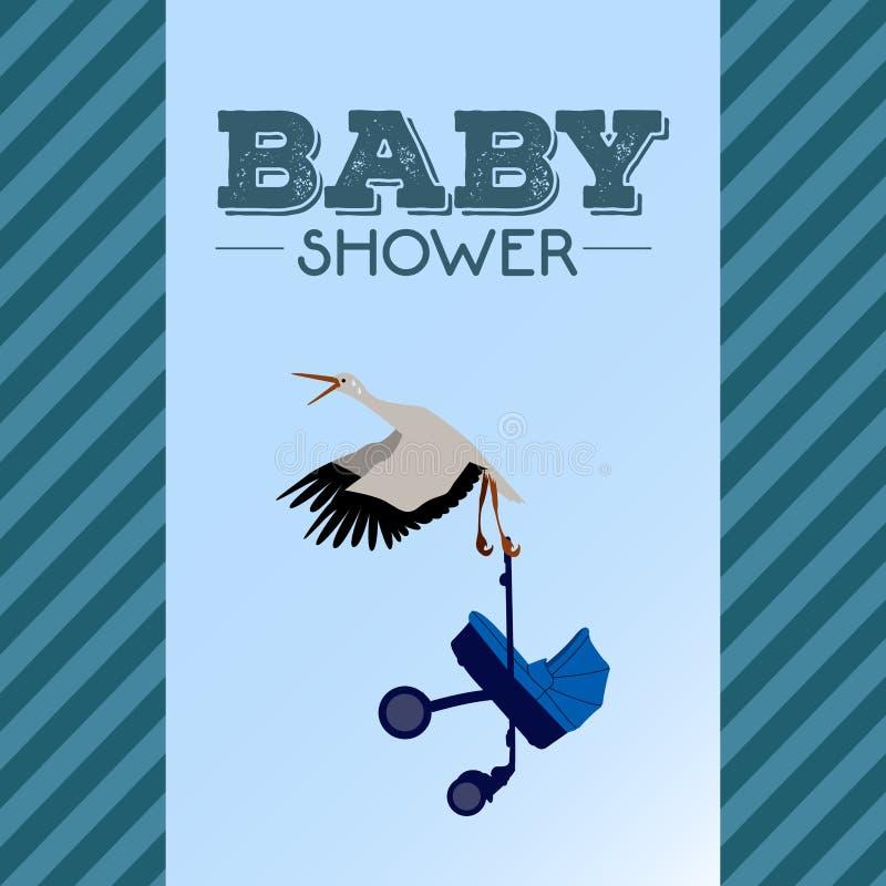 Baby shower invitational card royalty free illustration