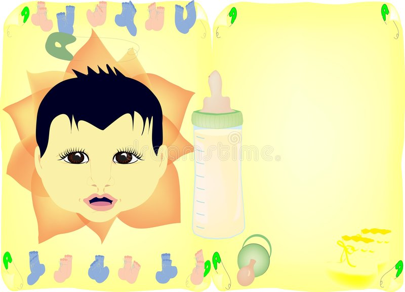 Download Baby shower invite stock illustration. Image of blue, flower - 3726772