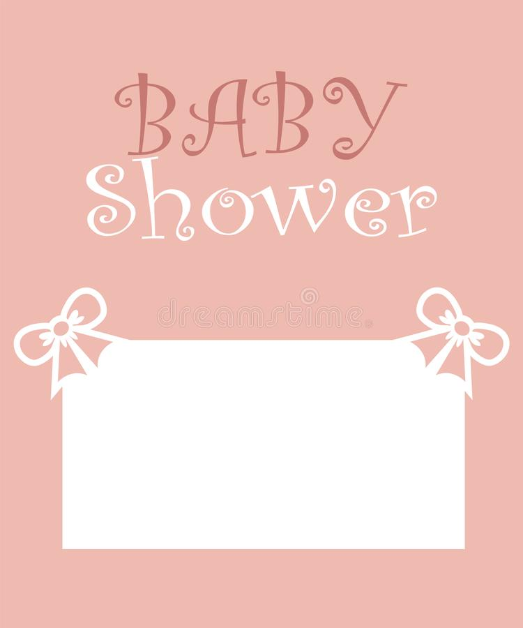 Baby shower party invitation card design. Cute and lovely baby card. vector illustration