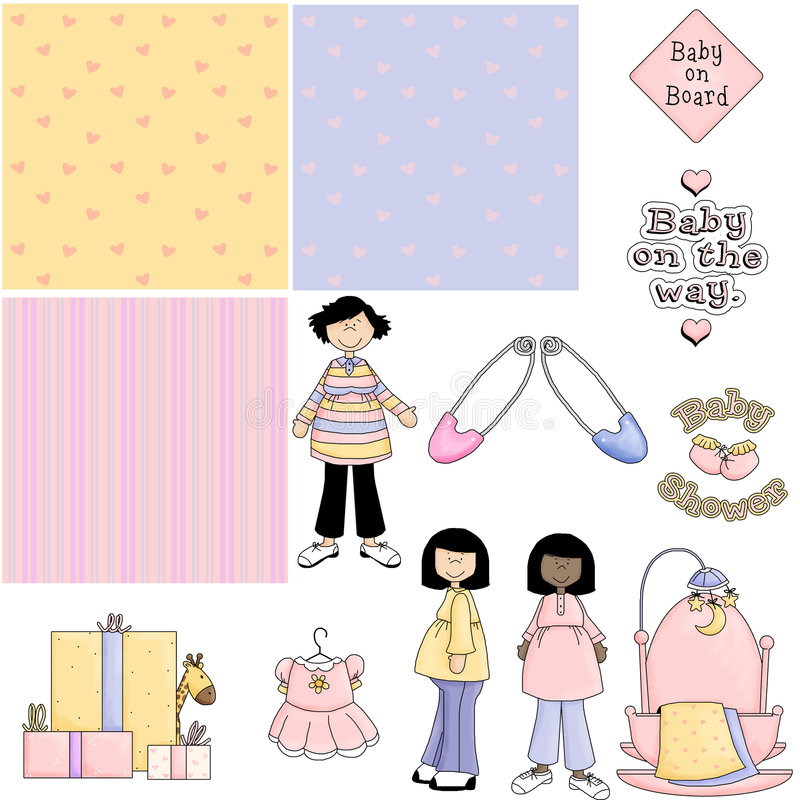 Baby Shower Pink 2 Clipart