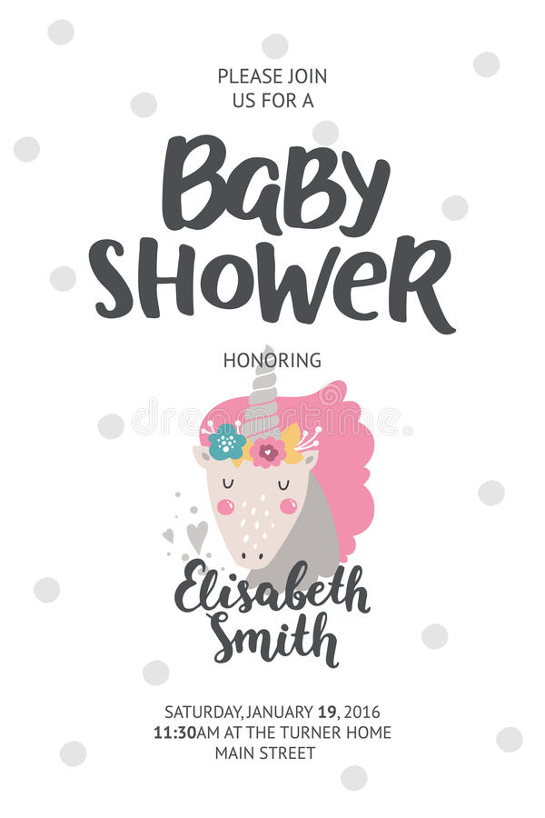 Baby shower poster stock illustration
