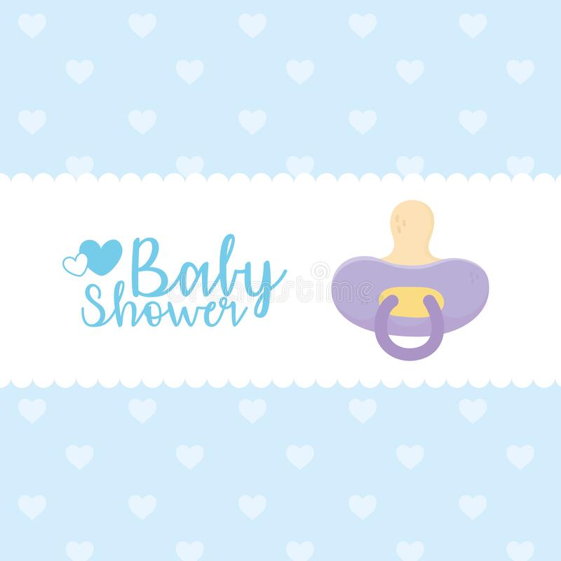 Free Baby Shower, Purple Pacifier Dotted Background Celebration Banner Royalty Free Stock Photo - 175491765