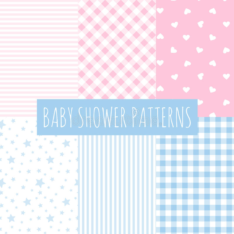 Free Baby Shower: Set Of Vector Backgrounds. Stock Photo - 39972400