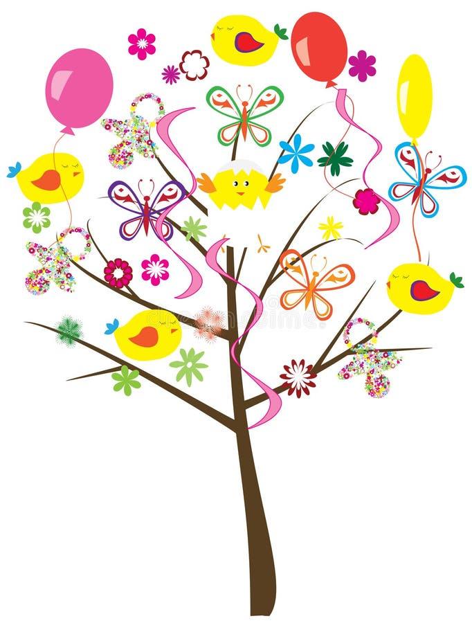 Baby shower tree stock illustration