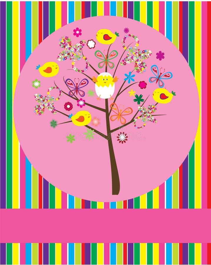 Baby shower tree royalty free illustration