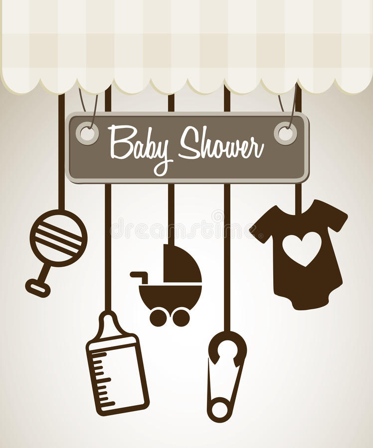Baby showerdesign vektor illustrationer