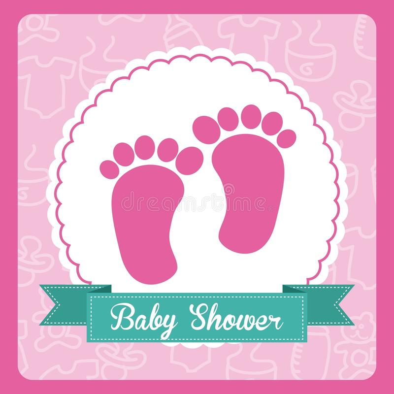 Baby showerdesign stock illustrationer
