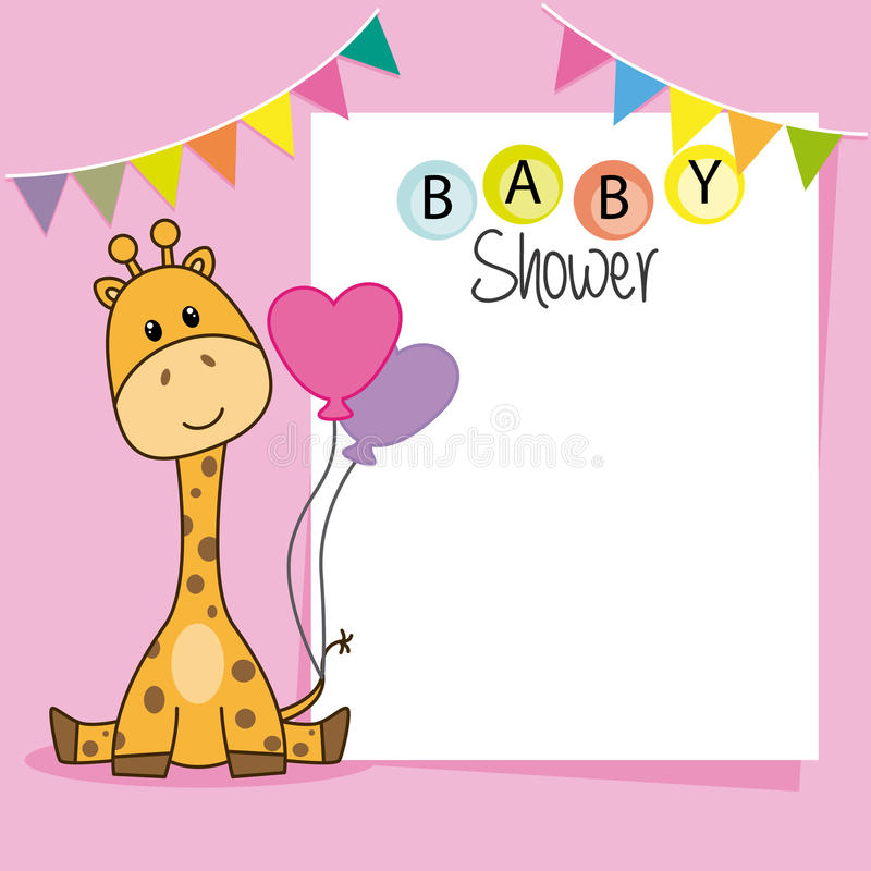 Baby showerflicka royaltyfri illustrationer